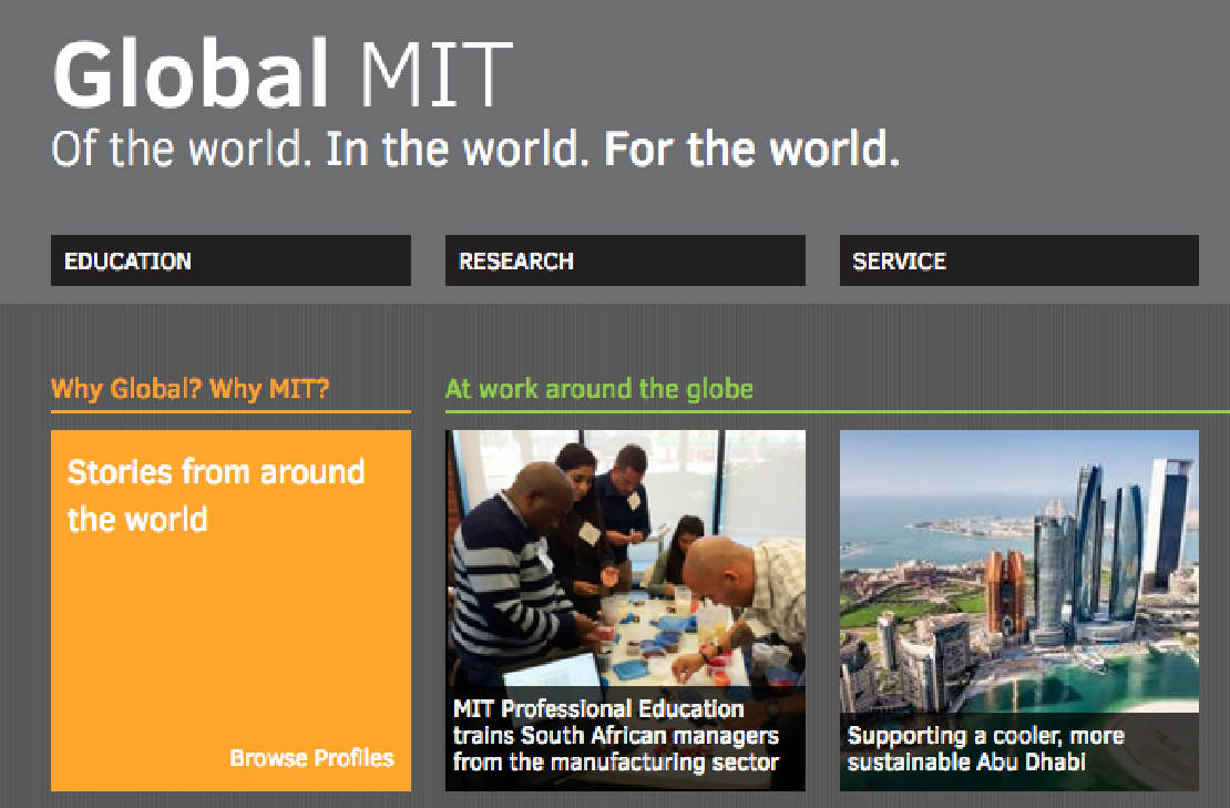 Global MIT website