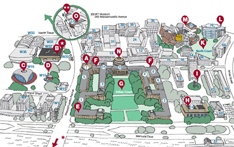 Campus Walking Tour map