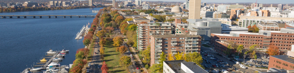 Aerial view of the MIT campus