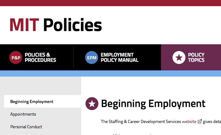 Policies website