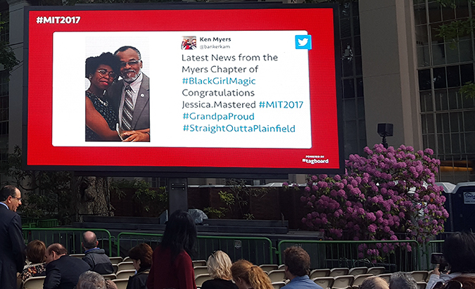 Commencement social media display